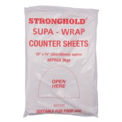 10 x 15 Stronghold HD Counter Sheets 25mµ 5 x 2Kg Packs