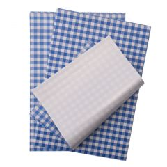 10 x 15 Blue Gingham Kraft/HD Lined Sheets