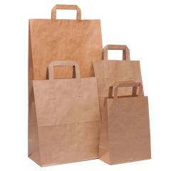 Brown Kraft SOS Takeaway Carrier Bags