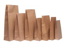 Brown Kraft SOS Block Bottom Bags 70 Gsm