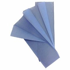 1 Ply Blue C Fold Hand Towels Boxed 15 x 180 Sheets