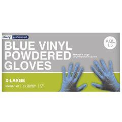 Blue Vinyl Gloves Powdered