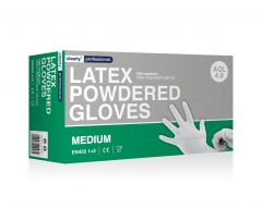Clear Latex Gloves Powdered