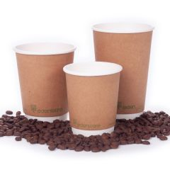 Edenware Compaostable Kraft Double Wall Cups