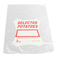 Clear Printed Potato Bags